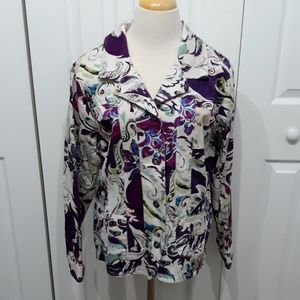 Chico's Jackets & Coats - Additions by Chico's Plum Infused Blazer